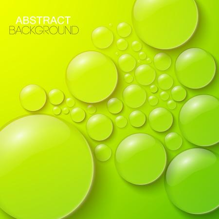 水滴は緑の背景  イラスト・ベクター素材