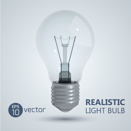 Filament Light Bulb Background Illustration
