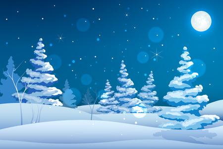 Seasonal Decorative Fairy Night Background
