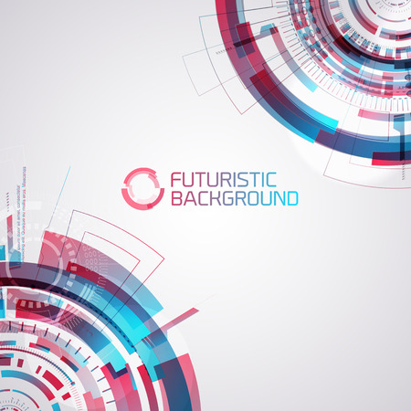 Gradient Futuristic Interface Background