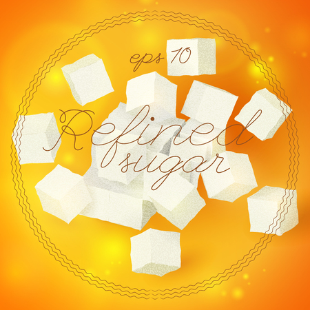 Light Geometric Refined Sugar Template Illustration