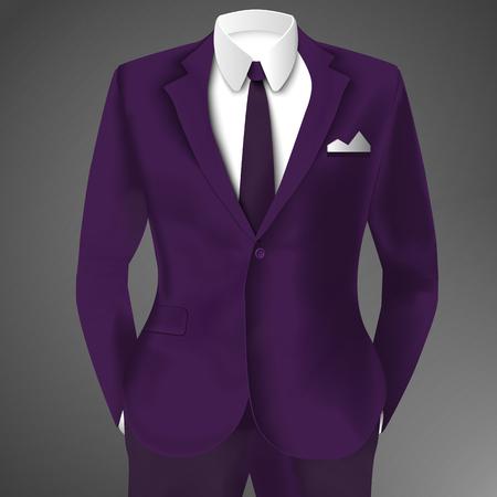 紫のビジネス スーツのテンプレート