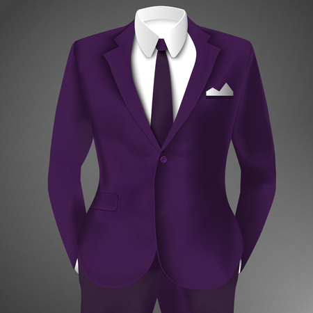 Purple Business Suit Template