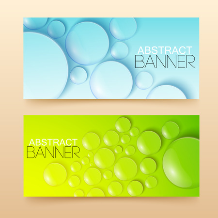 Water Drops Banners Set
