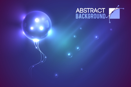 digital background: Alien Bubble Futuristic Background Illustration