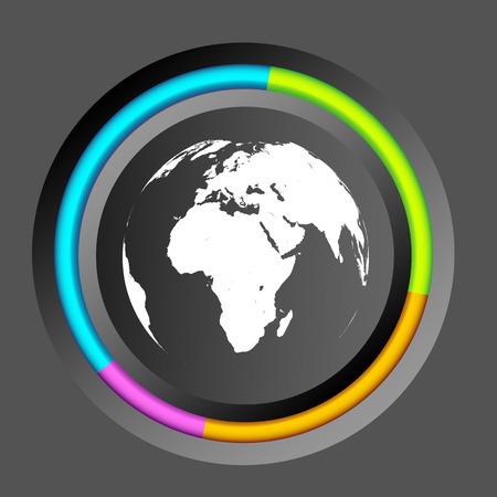 Infographic Business Circle Diagram Illustration