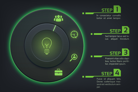 Abstract Web Infographic Concept Illustration
