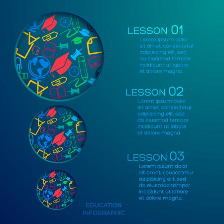 Onderwijs abstracte Infographics Stock Illustratie