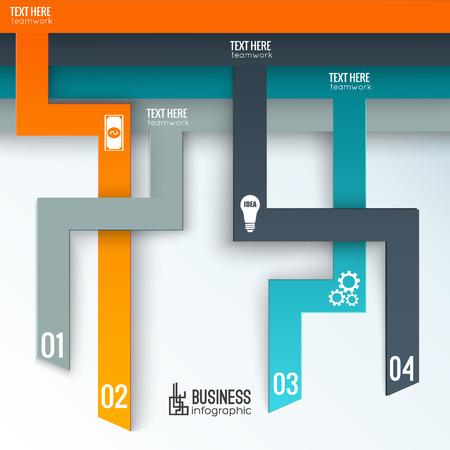 Teamwork zakelijke infographics.