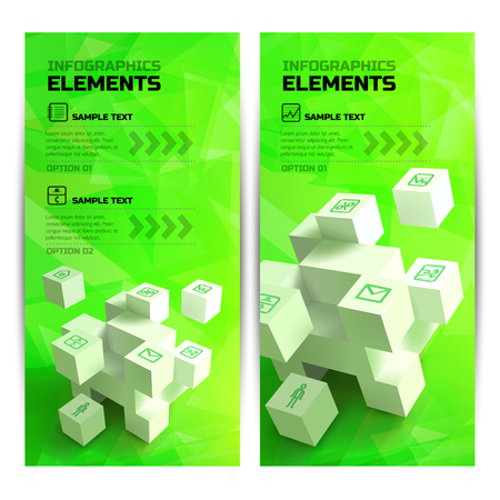 Infographic Geometric Vertical Banners.