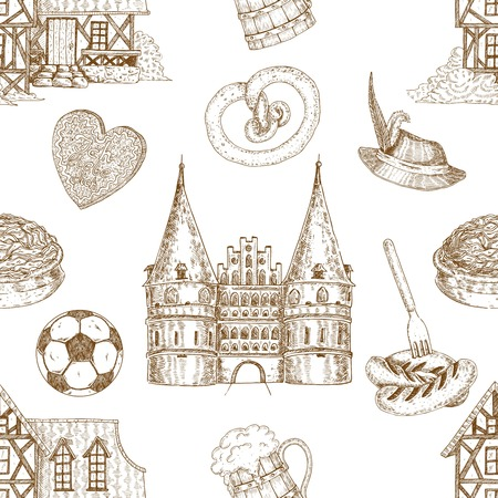 Germany Drawn Pattern Illustration