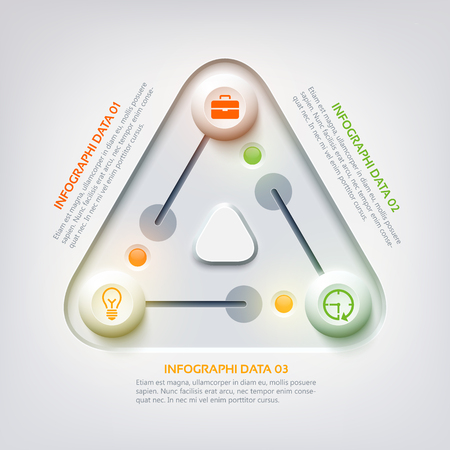 Abstract Web Infographic Concept Иллюстрация