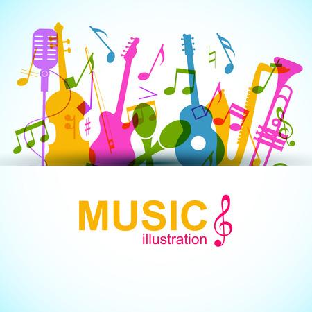 音楽グラフィック テンプレート