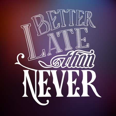 Typographic Quote Template Illustration