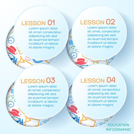 School Presentation Infographics Stock Photo