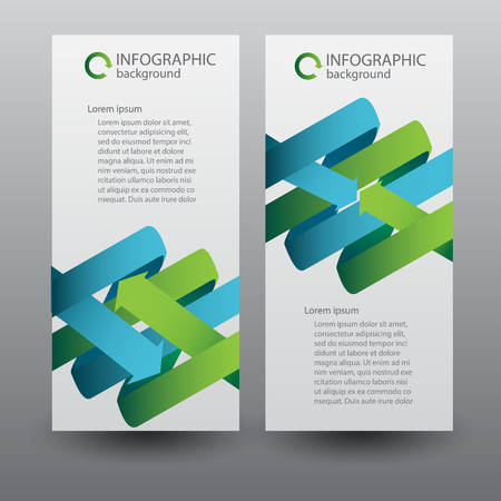 Web Infographic Vertical Banners Vector illustration.