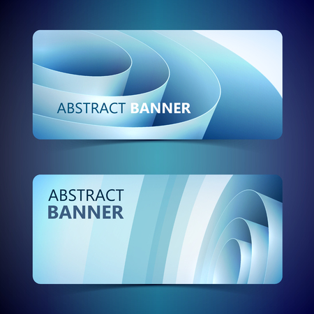 Abstract Light Horizontal Banners Illustration