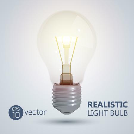 輝く電球の背景
