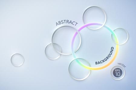Futuristic Crossing Circles Background