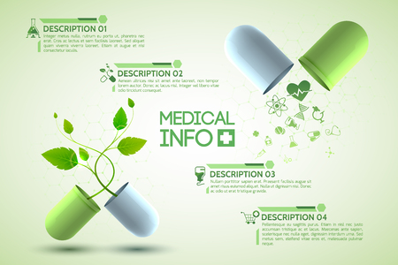 Medicine Information Poster Stock Photo