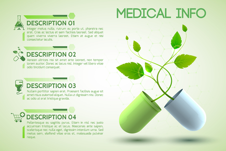 Healthcare Information Poster. Illustration