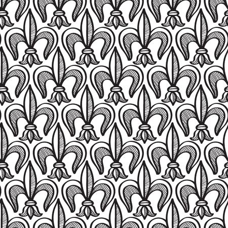Abstract naadloos patroon zwart-wit met het herhalen van voorwerpen vectorillustratie