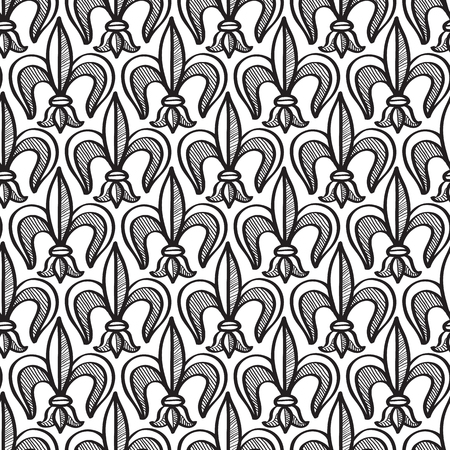 Abstract seamless pattern black and white with repeating objects vector illustration