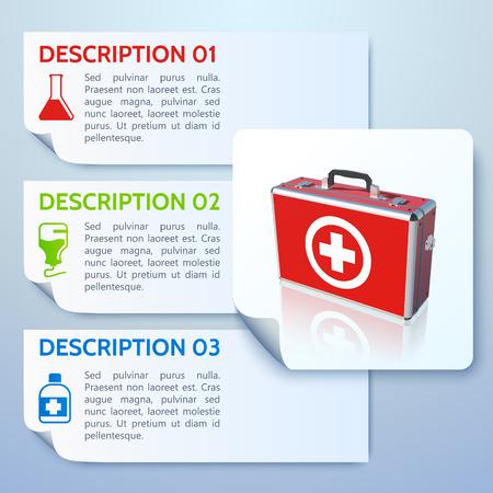 Healthy Medicine Horizontal Banners Ilustracja