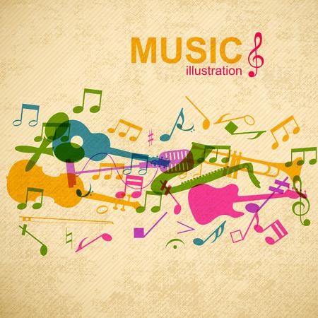 음악 디자인 컨셉 일러스트