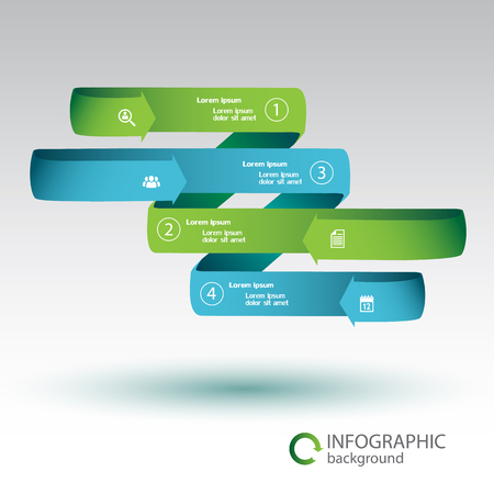 Ribbon Infographic Business Concept