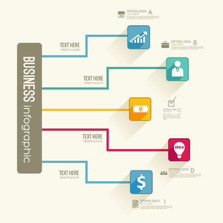 Infographic Business Flowchart Template