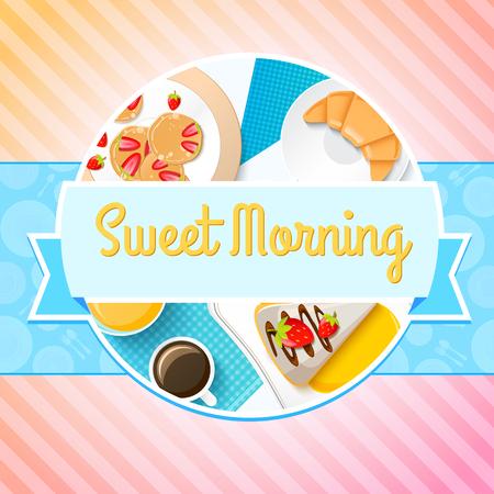 porcion de torta: Concepto de desayuno tradicional