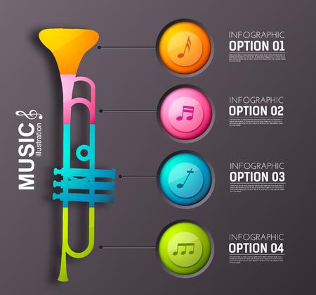 Music Infographic Design Concept