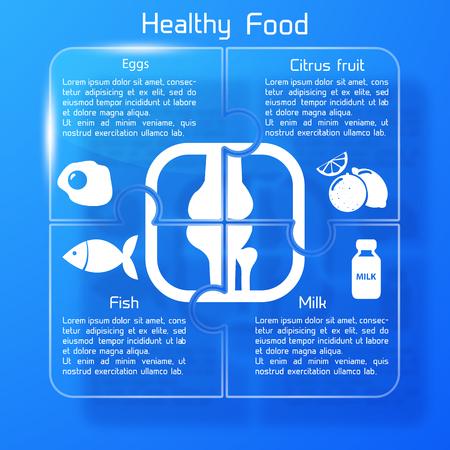 Healthy Food Infographics Ilustrace