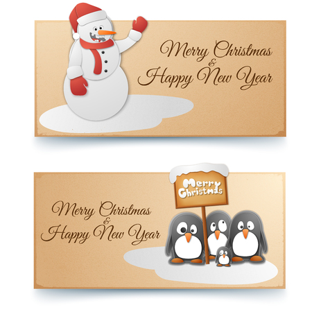 Christmas And New Year Horizontal Banners