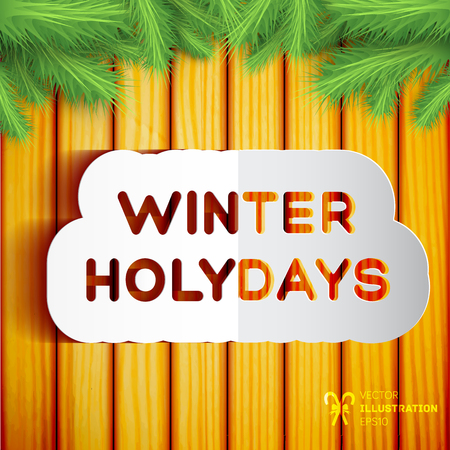 Winter Holidays Template Illustration