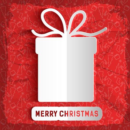 Merry Christmas Paper Template Иллюстрация