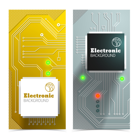 interior design: Electronic Board Banners Set