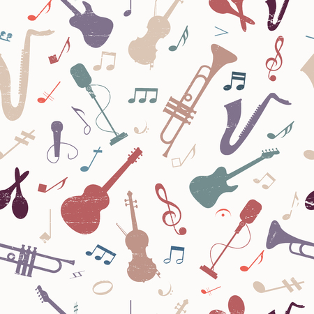 company: Colorful music seamless pattern.
