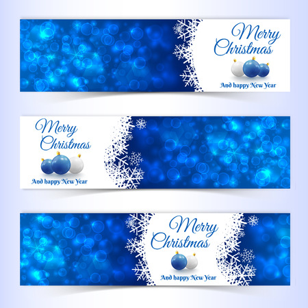 New Year Christmas Banners Set
