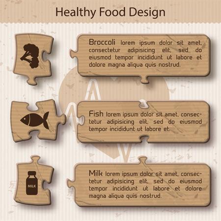 適切な栄養のインフォ グラフィック