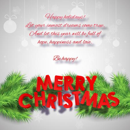 Abstract Merry Christmas Poster Иллюстрация