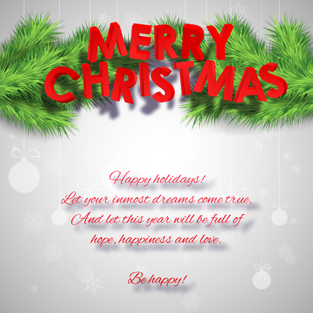 Merry Christmas Greeting Poster