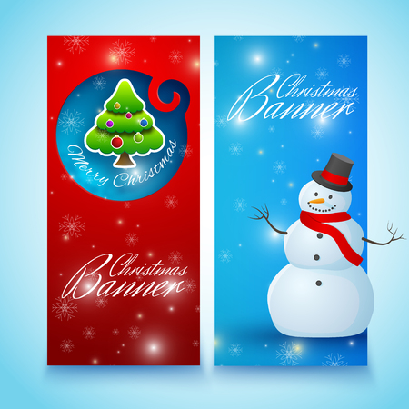 Festive Christmas Vertical Banners