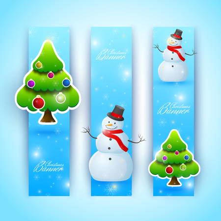 Celebrating Bright Christmas Vertical Banners