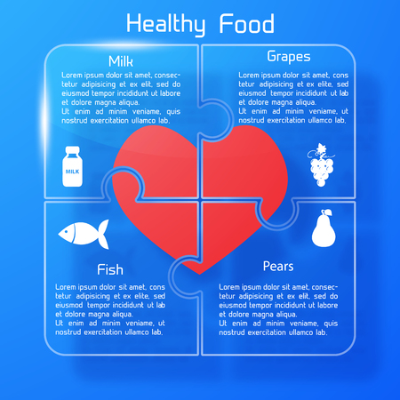 Healthy Food Concept Puzzle Design