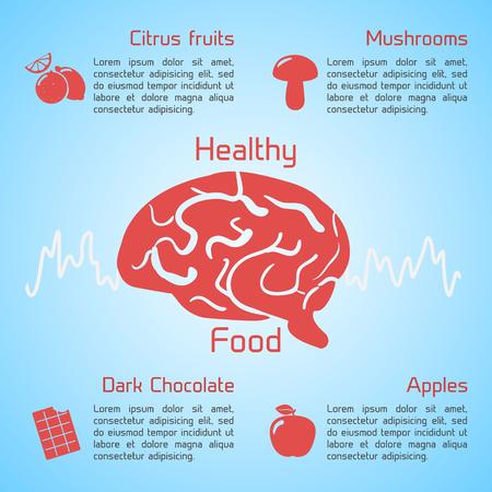 健康食品のインフォ グラフィック