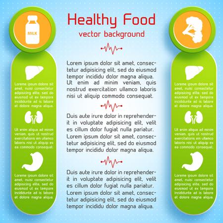건강 식품 개념
