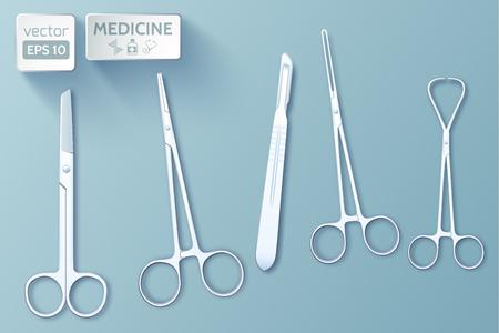 Medical Tools Set Illusztráció