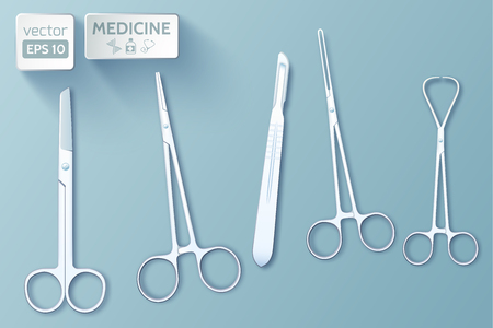 Medical Tools Set Illustration